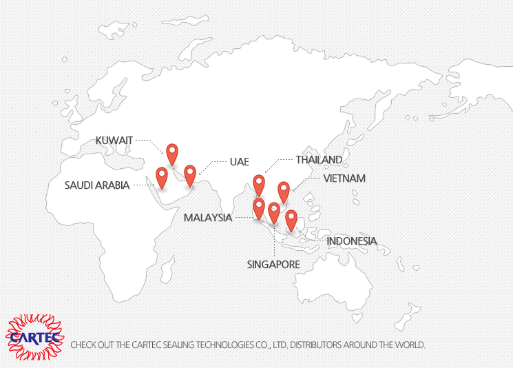 Check out the Caltech Sealing Technology Distributors around the world.